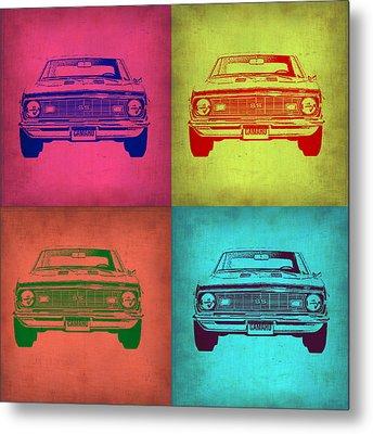 Chevy Camaro Pop Art 1 Metal Print