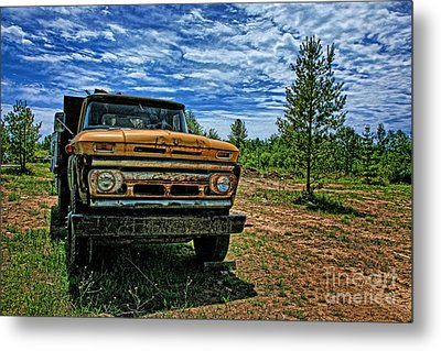 Chevy Dump Truck 1 Metal Print by Karen Walker