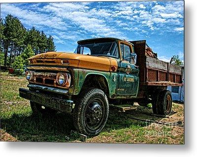 Chevy Dump Truck 2 Metal Print by Karen Walker