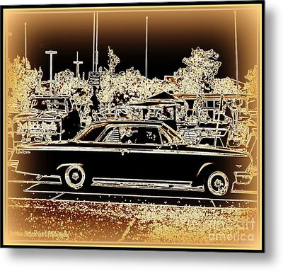 Chevy Glow Metal Print by Bobbee Rickard