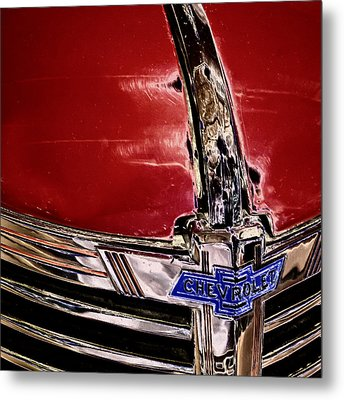Chevy Grill Metal Print by David Patterson