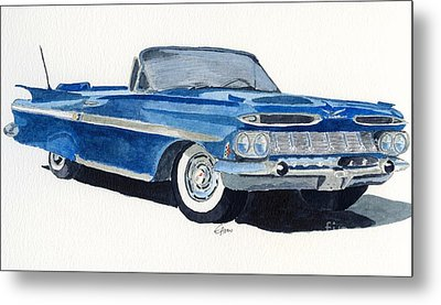 Metal Print featuring the painting Chevy Impala by Eva Ason