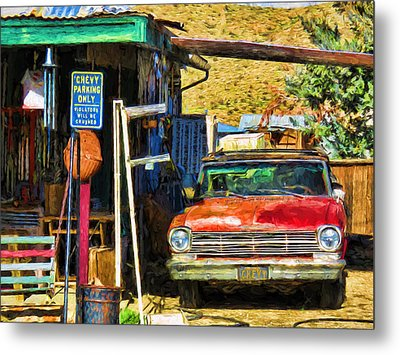 Chevy Parking Only Metal Print