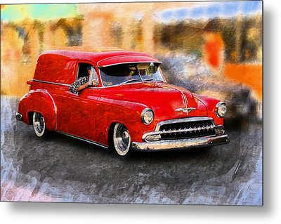 Classic Car Metal Print featuring the photograph Chevy Street Rod by Aaron Berg