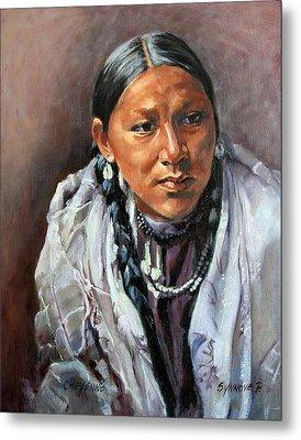 Cheyenne Woman Metal Print