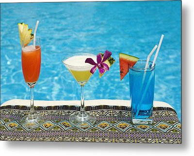 Chiang Mai, Thailand Tropical Drinks By Metal Print