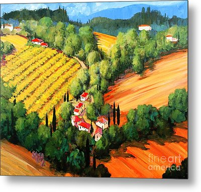 Chianti Road Metal Print