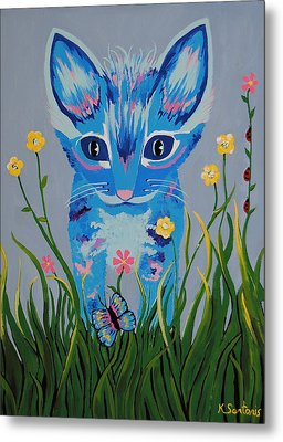 Metal Print featuring the painting Chibi by Kathleen Sartoris