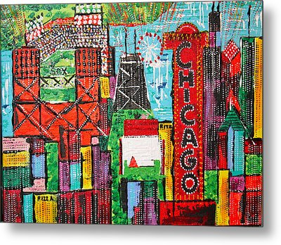 Chicago - City Of Fun - Sold Metal Print