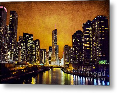 Chicago - A - Glow Metal Print by Jeanette Brown