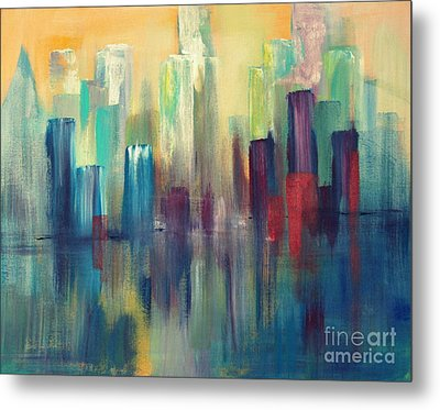 Chicago A Reflection Metal Print by Julie Lueders