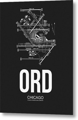 Chicago Airport Poster Metal Print