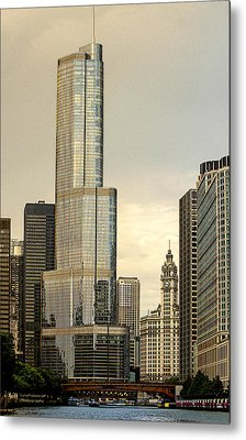 Chicago Architecture Old And New Metal Print by Julie Palencia