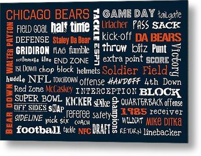 Chicago Bears Metal Print by Jaime Friedman