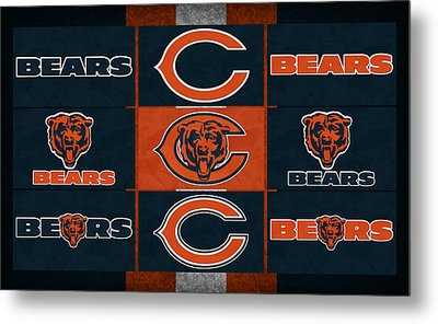 Chicago Bears Uniform Patches Metal Print