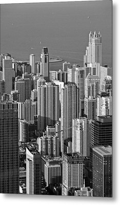 Chicago - Birds-eye-view Metal Print by Christine Till