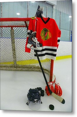 Chicago Blackhawks Home Hockey Jersey Metal Print