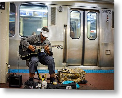 Chicago Bluesman Metal Print