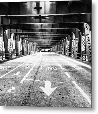 Chicago Wells Street Bridge Picture Metal Print by Paul Velgos