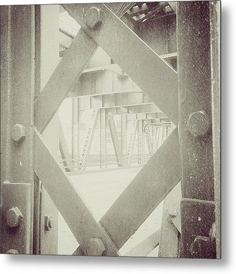 Chicago Bridge Ironwork Vintage Photo Metal Print by Paul Velgos