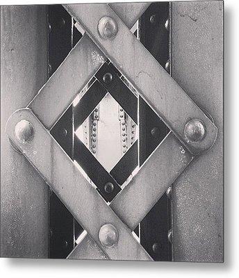 Chicago Bridge Iron Close-up Picture Metal Print by Paul Velgos