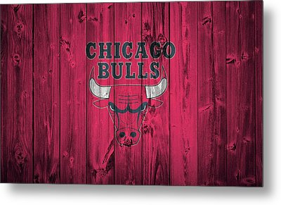 Chicago Bulls Barn Door Metal Print