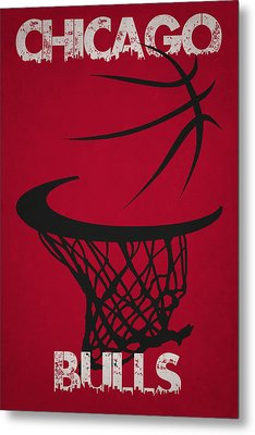 Chicago Bulls Hoop Metal Print by Joe Hamilton