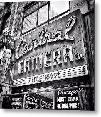Chicago Central Camera Sign Picture Metal Print by Paul Velgos