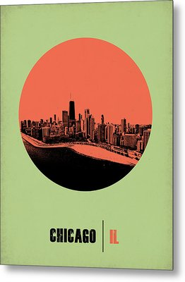 Chicago Circle Poster 1 Metal Print by Naxart Studio