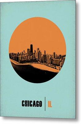 Chicago Circle Poster 2 Metal Print by Naxart Studio
