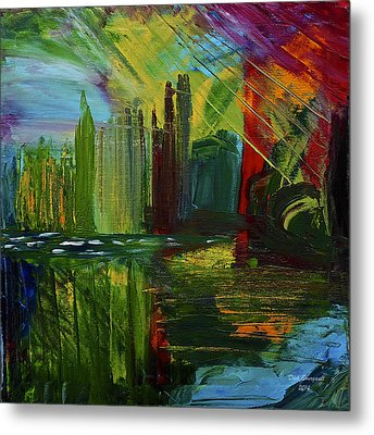 Chicago City Scape Metal Print by Dick Bourgault