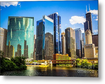 Chicago City Skyline Metal Print by Paul Velgos