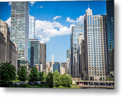 Chicago Cityscape Downtown Buildings Metal Print by Paul Velgos