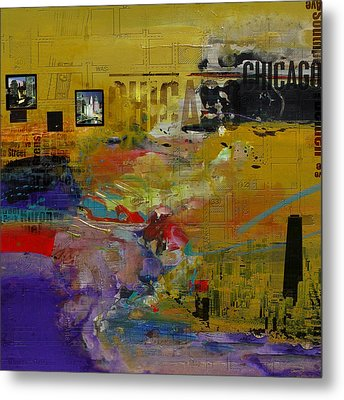 Chicago Collage 2 Metal Print by Corporate Art Task Force