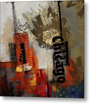 Chicago Collage Metal Print by Corporate Art Task Force