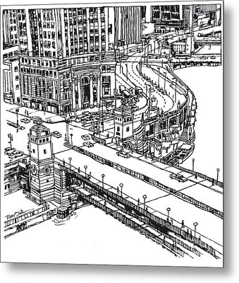 Chicago Downtown View Of Michigan Ave. And Wacker Dr. Metal Print