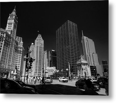 Chicago - E Wacker Drive Metal Print by Lance Vaughn