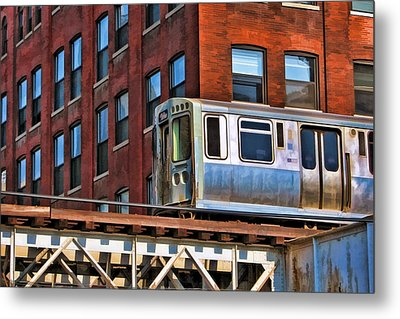 Chicago El And Warehouse Metal Print by Christopher Arndt
