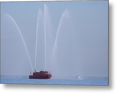 Chicago Fireboat Metal Print