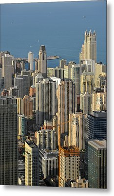 Chicago From Above - What A View Metal Print by Christine Till