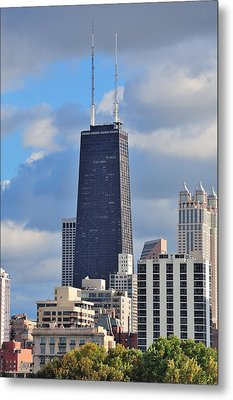 Chicago Hancock Building Metal Print
