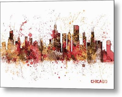 Chicago Illinois Skyline Metal Print by Michael Tompsett