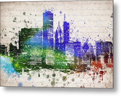 Chicago In Color Metal Print