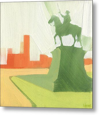 Chicago Kosciuszko Statue 15 Of 100 Metal Print by W Michael Meyer