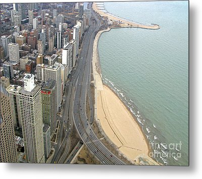 Chicago Lakeshore Metal Print by Ann Horn