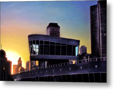Metal Print featuring the photograph Chicago Lock Tower by John Hansen