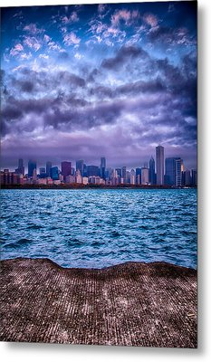 Chicago Lost In The Clouds Metal Print by Michael  Bennett