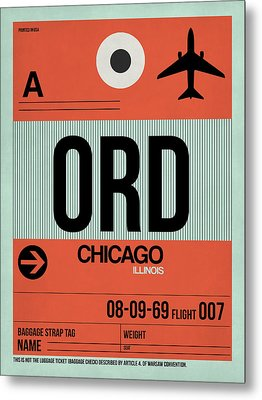 Chicago Luggage Poster 2 Metal Print by Naxart Studio