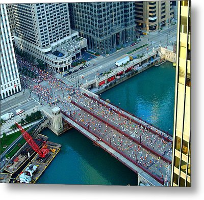 Chicago Marathon 2008 Metal Print by Kay Gilley