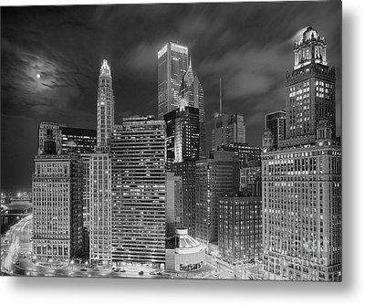 Chicago Moonlight Metal Print by Jeff Lewis